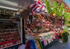 Weihnachtsmarkt Barcelona Stockbild
