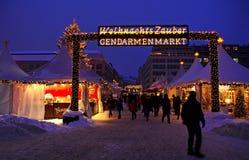 Weihnachtsmarkt in Berlin lizenzfreies stockbild