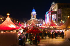 Weihnachtsmarkt in Berlin, Deutschland Lizenzfreie Stockbilder