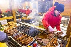 Weihnachtsmarkt in Breslau, Polen lizenzfreie stockfotografie