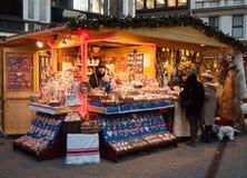 Weihnachtsmarkt in Budapest Stockbild