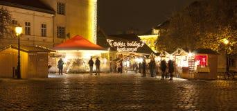 Weihnachtsmarkt in Budapest Lizenzfreies Stockbild