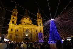 Weihnachtsmarkt in Budapest, Ungarn, 2015 stockfotos