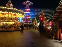Weihnachtsmarkt de Berlim Fotos de Stock Royalty Free