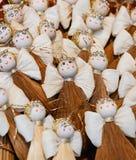 Weihnachtsmarkt Dekoration - Engel gemacht von Lizenzfreie Stockbilder