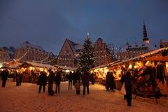 Weihnachtsmarkt in der alten Stadt Lizenzfreies Stockfoto