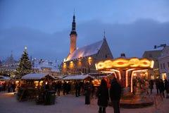 Weihnachtsmarkt in der alten Stadt Stockfoto