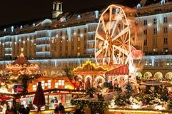Weihnachtsmarkt in Dresden Stockfoto