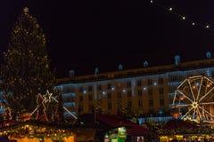 Weihnachtsmarkt in Dresden Stockbild