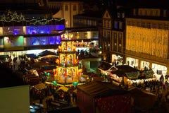 Weihnachtsmarkt in Fulda, Deutschland Lizenzfreie Stockbilder