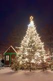 Weihnachtsmarkt in Litomerice, Tschechische Republik Stockfotografie