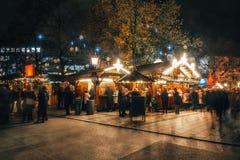 Weihnachtsmarkt in München, Deutschland stockbild