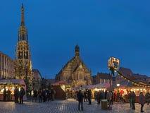 Weihnachtsmarkt in Nürnberg, Deutschland stockbild