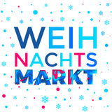 Weihnachtsmarkt poster background Weihnachten Christmas German holiday market vector snowflake pattern. Weihnachtsmarkt poster background for German Weihnachten Royalty Free Stock Photo