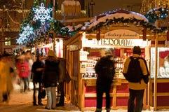 Weihnachtsmarkt in Prag Stockfoto