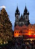 Weihnachtsmarkt, Prag lizenzfreies stockfoto