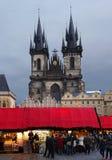 Weihnachtsmarkt, Prag stockfotos