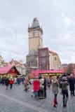 Weihnachtsmarkt in Prag Stockbilder