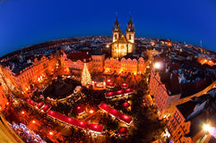 Weihnachtsmarkt in Prag, Tschechische Republik Stockfotografie