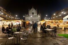 Weihnachtsmarkt in Santa Croce stockfotografie