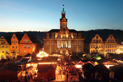 Weihnachtsmarkt in Schwaebisch Hall Germany Stockbild
