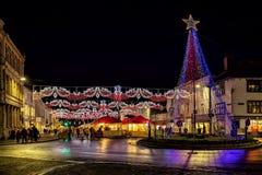 Weihnachtsmarkt in Stratford nach Avon Stockbilder