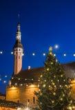 Weihnachtsmarkt in Tallinn Stockfotografie