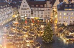Weihnachtsmarkt in Tallinn, Estland Lizenzfreies Stockfoto