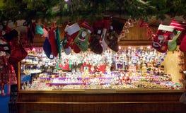 Weihnachtsmarkt in Wien, Österreich Stockfotografie