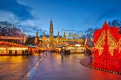 Weihnachtsmarkt in Wien Stockbild
