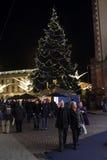 Weihnachtsmarkt in Wiesbaden lizenzfreies stockbild