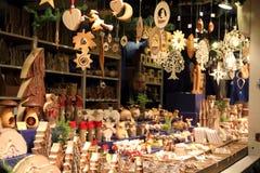 Weihnachtsmarkt in Wiesbaden stockfotos