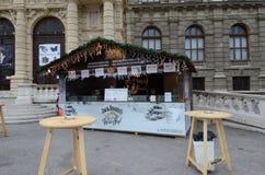 Weihnachtsmarktstall, Wien Stockfotografie