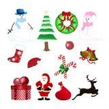 Weihnachtsmaterial-Dekor stock abbildung