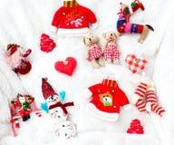 Weihnachtsmaterialansammlung Stockfotos