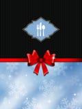 Weihnachtsmenüauslegung Stockbild
