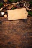 Weihnachtsmenükarte Stockfoto