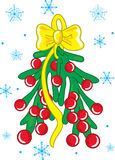Weihnachtsmistel lizenzfreie abbildung