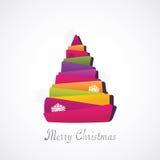 Weihnachtsmoderner Baum Stockfotografie