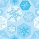 Weihnachtsmosaik Muster von Snowflakes_05 Lizenzfreie Stockfotografie