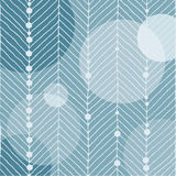 Weihnachtsmotiv mit weißen Linien, die wie ein Tannenbaum aussehen Kugelkreise und kleine Schneebälle auf einem blauen eisigen Hi Stockfotos