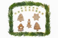 Weihnachtsmotivdekoration Stockfoto