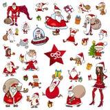 Weihnachtsmotivkarikaturen stock abbildung
