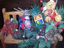 Weihnachtsmotivzusammensetzung, Verzierung stockbild