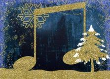 Weihnachtsmusicalkarte Stockfotos