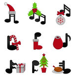 Weihnachtsmusik Stockfoto