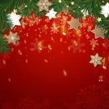 Weihnachtsmusik-Hintergrund Stockbild
