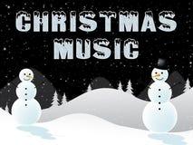 Weihnachtsmusik zeigt Illustration Weihnachtslied-3d stock abbildung
