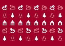 Weihnachtsmuster Stockfoto