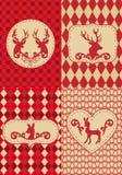 Weihnachtsmuster mit deers, Vektor Lizenzfreies Stockfoto